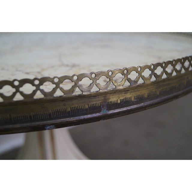 John Widdicomb French-Style Marble Coffee Table - Image 6 of 10