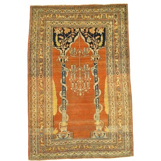 Late 19th Century Antique Tabriz Hajjalili Rug - 4′3″ × 6′4″ For Sale
