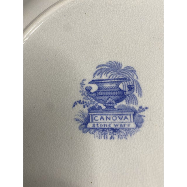 Early 19th Century Staffordshire Blue and White Plates - Set of 8 For Sale In Washington DC - Image 6 of 7
