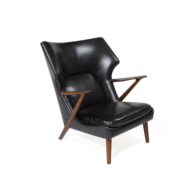 Kurt Olsen Danish Rosewood Black Leather Bear Chair For Sale In San Francisco - Image 6 of 11