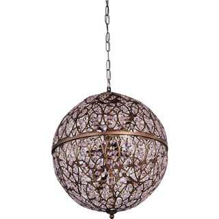 Contemporary Asfour Crystal Round Egg Pendant For Sale