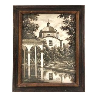1950s Oil on Canvas, El Jardin De La Borda Cuernavaca Signed Reina For Sale