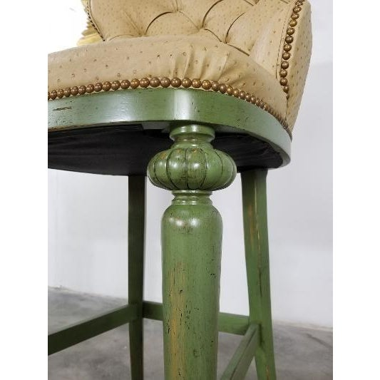 Hickory Century Ostrich Barstools For Sale - Image 9 of 13