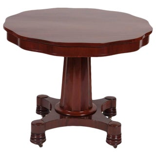 19th Century Empire Mahogany Center Table For Sale