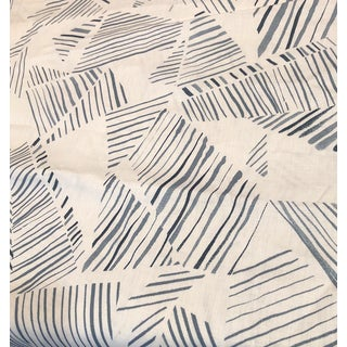 Rebecca Atwood Mixed Stripes Grey Fabric For Sale