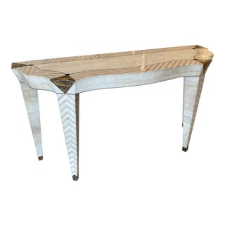 Merle Edelman for Casa Bique Tessellated Marble Console For Sale