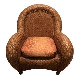 Final Offer - Pottery Barn Malabar Rattan Chair For Sale