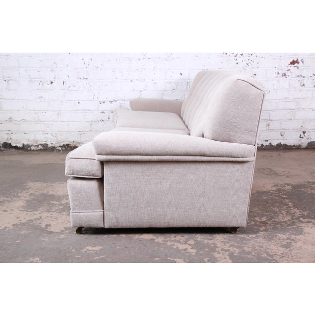 Textile Mid-Century Modern Curved Tufted Sofa, Newly Reupholstered For Sale - Image 7 of 12