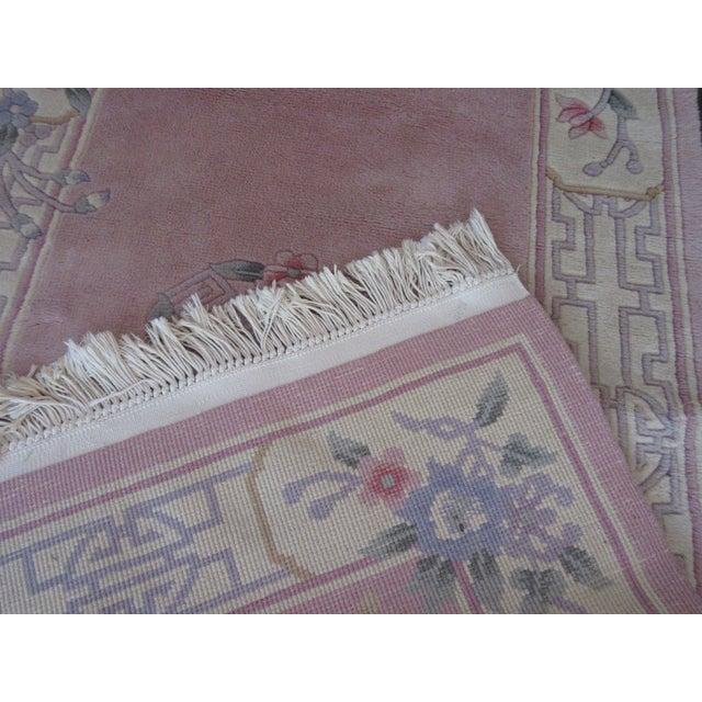 Asian Pink & White Runner Rug - 3′6″ × 6′6″ - Image 10 of 10