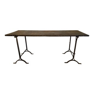 19th Century English Trestle Table For Sale