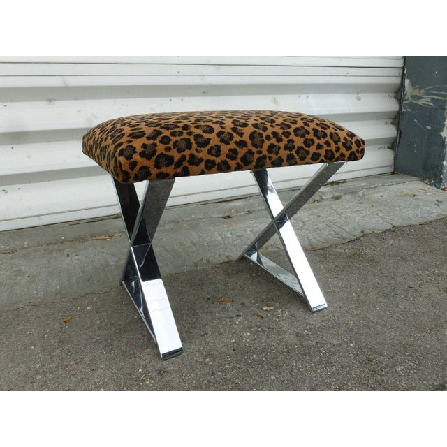 1970s 1970's Vintage Chromed Steel Stretcher Bench For Sale - Image 5 of 5