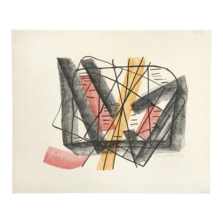1960 Greta Moll (Marg) Modernist Abstract Expressionist Lithograph- Signed For Sale
