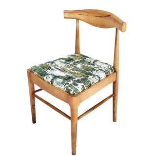Mid Century Modern Danish Maple Elbow Chair For Sale
