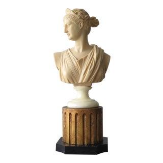 Vintage Greek Goddess Artemis Diana Bust For Sale