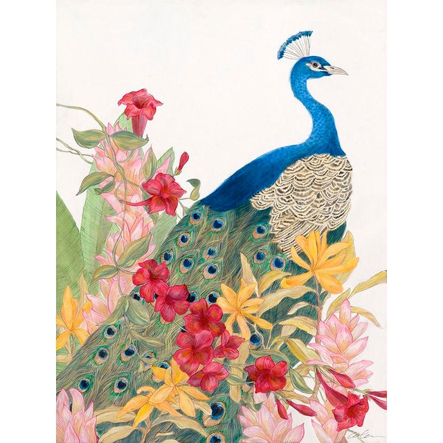 """Allison Cosmos Contemporary Allison Cosmos """"A Peacock's Paradise"""" Painting For Sale - Image 4 of 4"""