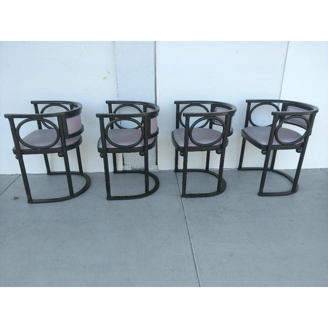 Mid 20th Century Vintage Joseph Hoffmann Style Wrap-Around Armchairs - Set of 4 For Sale - Image 5 of 12