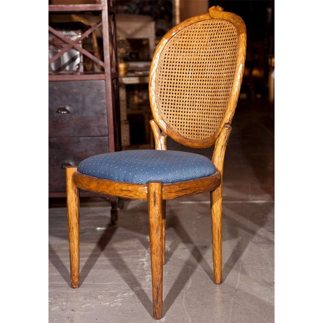 French Louis XIV Style Caned Side Chairs - Pair For Sale In New York - Image 6 of 8