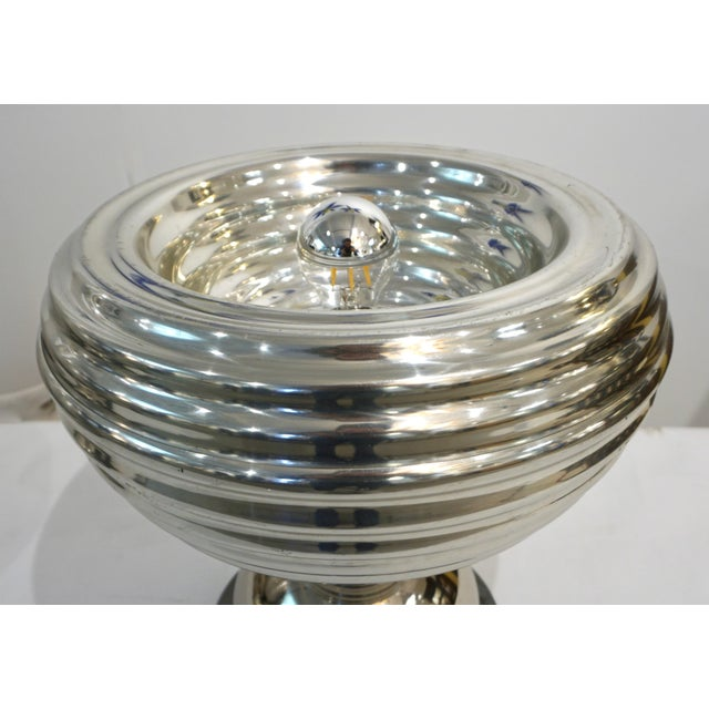 Flos Flos 1960s Castiglioni Round Silver Tone Polished Aluminum Table Lamps - a Pair For Sale - Image 4 of 13