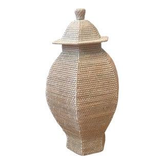 Boho Chic Bungalow 5 Batam 6-Sided Temple Jar For Sale