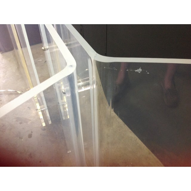 Vintage Lucite Table Bases - A Pair - Image 7 of 8