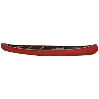 Mid-Century Modern Old Town Red Canoe Kayak For Sale
