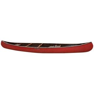 Mid-Century Modern Old Town Red Canoe Kayak