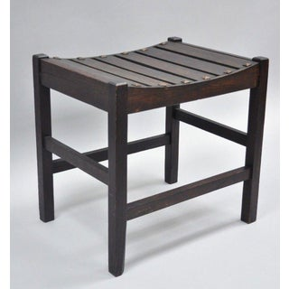 Early 20th Century Vintage Snyder & Fuller Arts & Crafts Oak Bench Preview