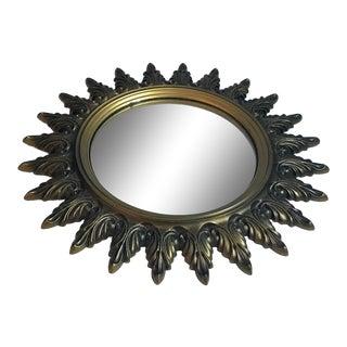 Vintage Starburst Convex Mirror For Sale