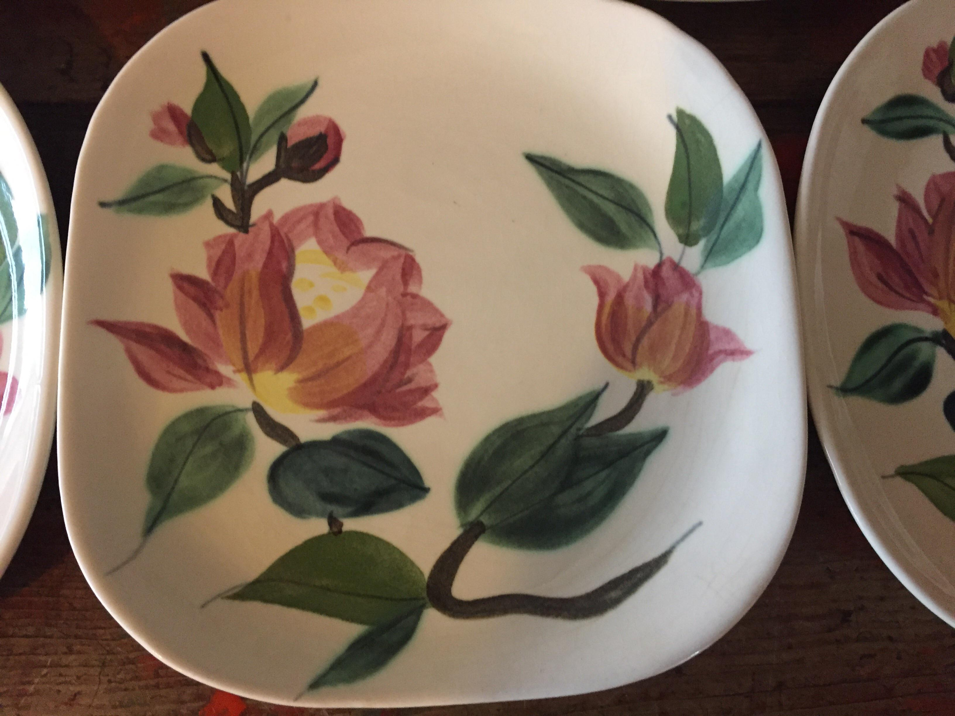 Vintage Red Wing Pottery Plates - Set of 5 - Image 5 of 10  sc 1 st  Chairish & Vintage Red Wing Pottery Plates - Set of 5 | Chairish