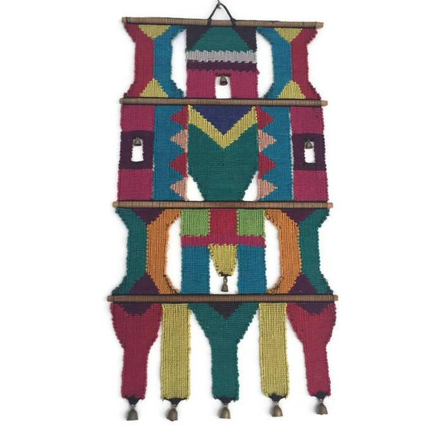Mid-Century Modern Textile Wall Art Hanging - Image 4 of 7