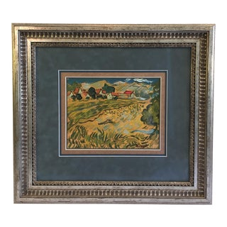 Vintage Mid-Century Vincent Van Gogh Countryside XIII Lithograph Print For Sale