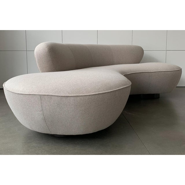 "Valdimir Kagan for Directional Mid-Century Modern ""Cloud"" Sofa For Sale - Image 9 of 13"