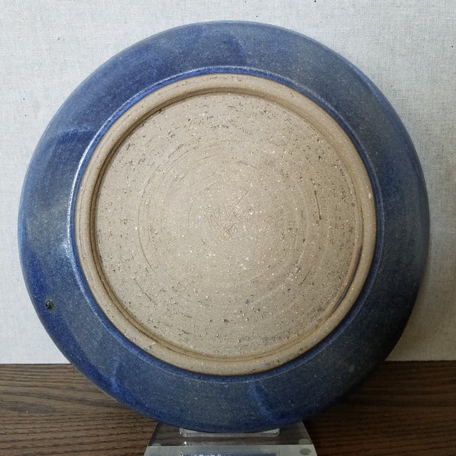 Mid 20th Century Studio Pottery Signed Wall Art Plate For Sale - Image 5 of 6