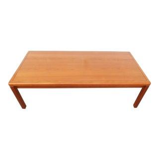 1970's Minimalist Vejle Stole Mobelfabrik Solid Teak Coffee Table For Sale