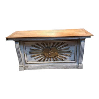 French Antique White Oak & Pine Church Alter