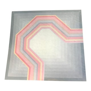 Retro Geometric Art Lithograph