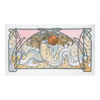 "Alphonse Mucha, ""Kissing Mermaids"", Art Nouveau Poster For Sale"