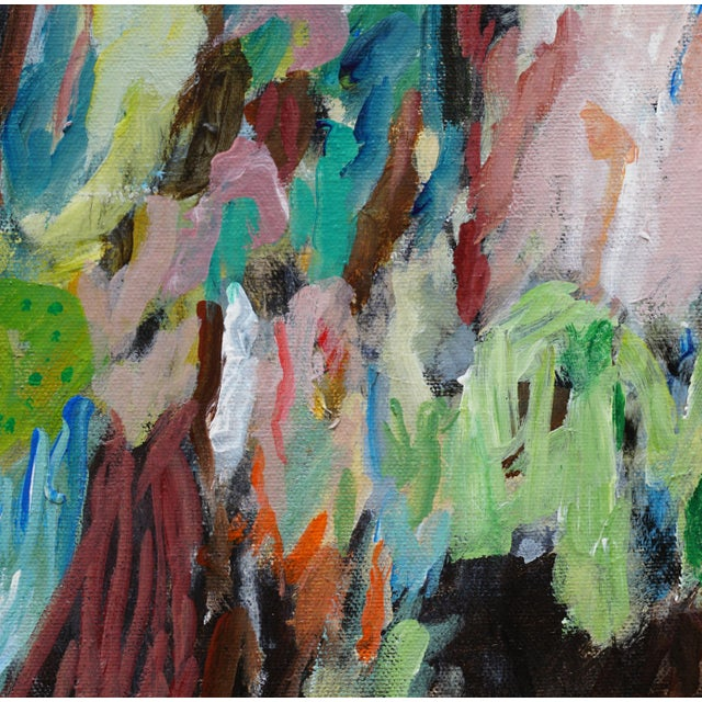 """Laurie MacMillan Laurie MacMillan """"Biodiversity"""" Abstract Painting For Sale - Image 4 of 6"""