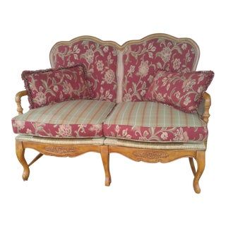 1930s Vintage French Louis XV Settee For Sale
