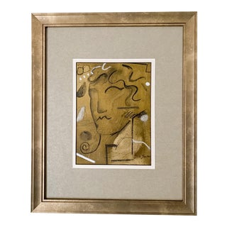 """Written in Stone"" Contemporary Mixed-Media Painting by Joe Turner, Framed For Sale"