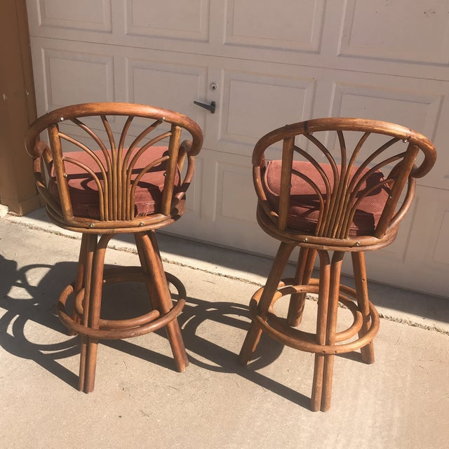 1960s Bentwood Swivel Bar Stools - a Pair - Image 5 of 8