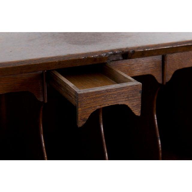 Brass Circa 1760 George III Period Oak Slant Front Antique Desk For Sale -  Image 7 - Circa 1760 George III Period Oak Slant Front Antique Desk Chairish