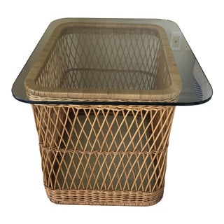 The McGuire Company Wicker End Table For Sale
