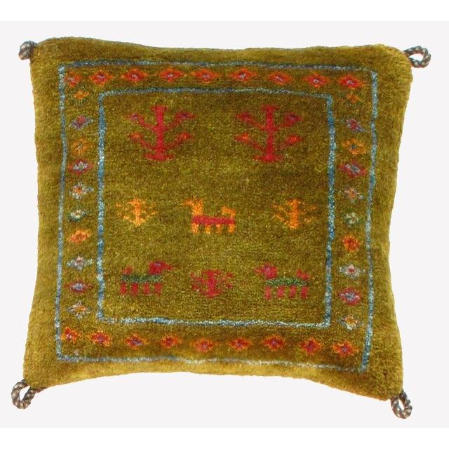 Persian Persian Gabbeh Lori Baft Pillow For Sale - Image 3 of 3