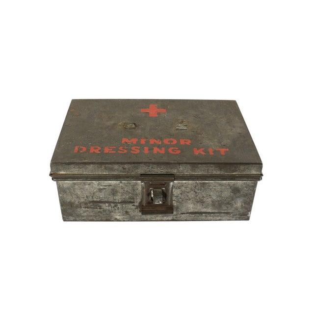 1940s WWII Vintage Metal Storage Box - Image 4 of 5