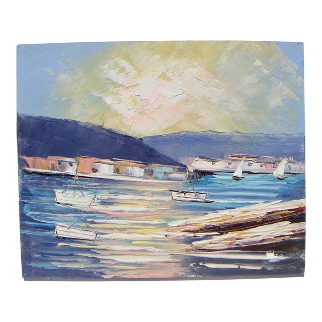 Sausalito California Modernism Painting - Image 1 of 4