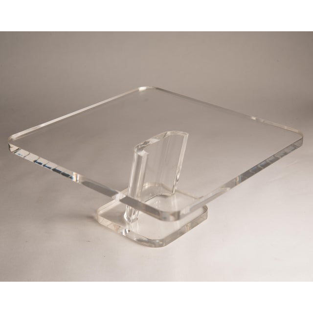 Mid-Century Modern 1970s Vintage Lucite Cake Plate Holder/Stand For Sale - Image 3 of 9