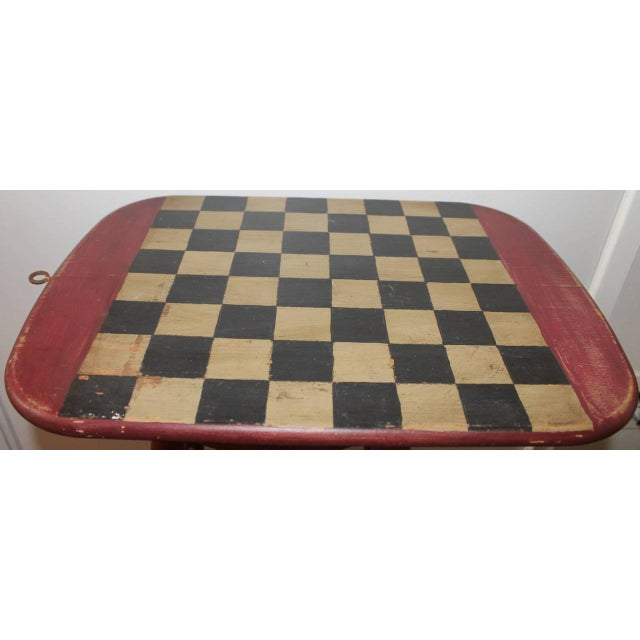 Folky Early 20th Century Original Painted Gameboard - Image 2 of 4