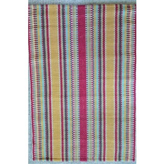 Dash & Albert Wyatt Cotton Woven Rug - 2′ × 3′ For Sale