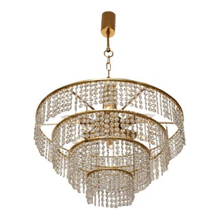 Four-Tier German Crystal Chandelier For Sale